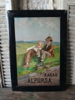 Antiek reclamebord Alpursa kakao ,1910 / antique advertising sign